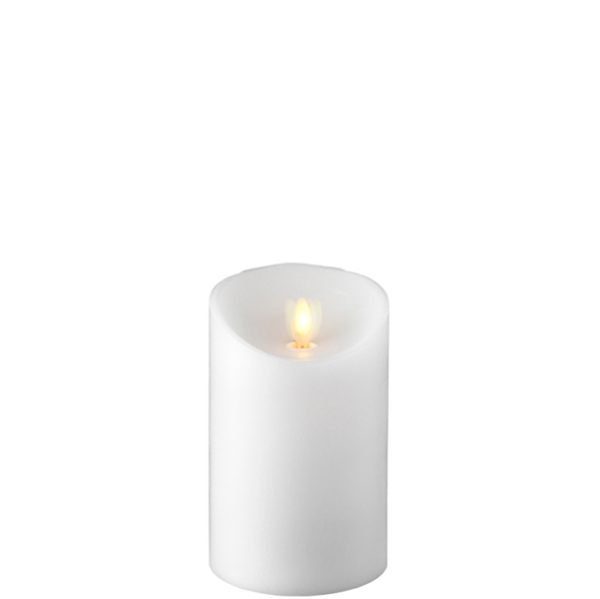 "Liown Moving Flame 3.5"" x 5"" Pillar Candle White"