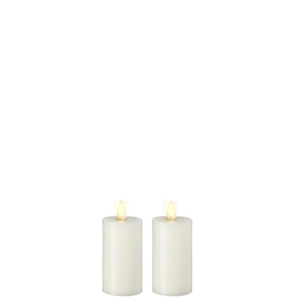 "Liown Moving Flame 2"" x 3""  Votive  Ivory Set of 2"