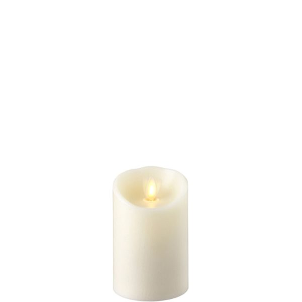 """Liown Moving Flame 3"""" x 4"""" Pillar Candle Ivory"""