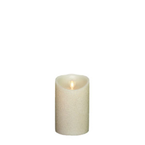 "Liown Moving Flame 3.5"" x 5"" Pillar Candle Pearl"