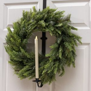 Liown Moving Flame Candle Wreath Holder