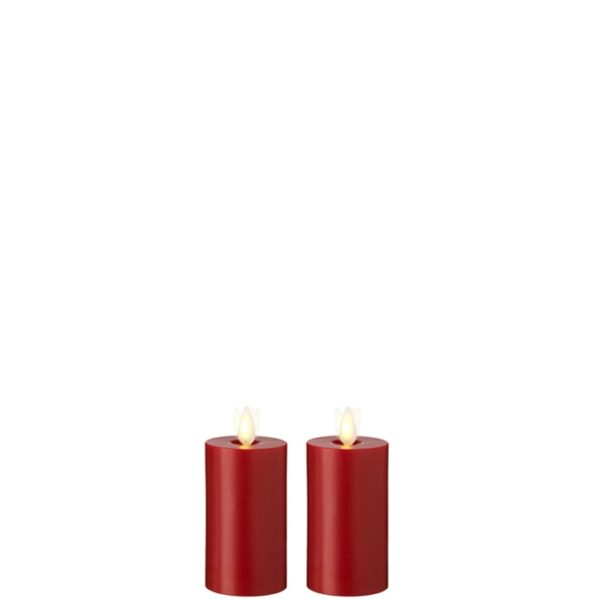 "Liown Moving Flame 2"" x 3"" Votive Red"