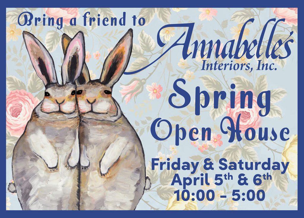 Annabelle's Spring Open House Postcard.